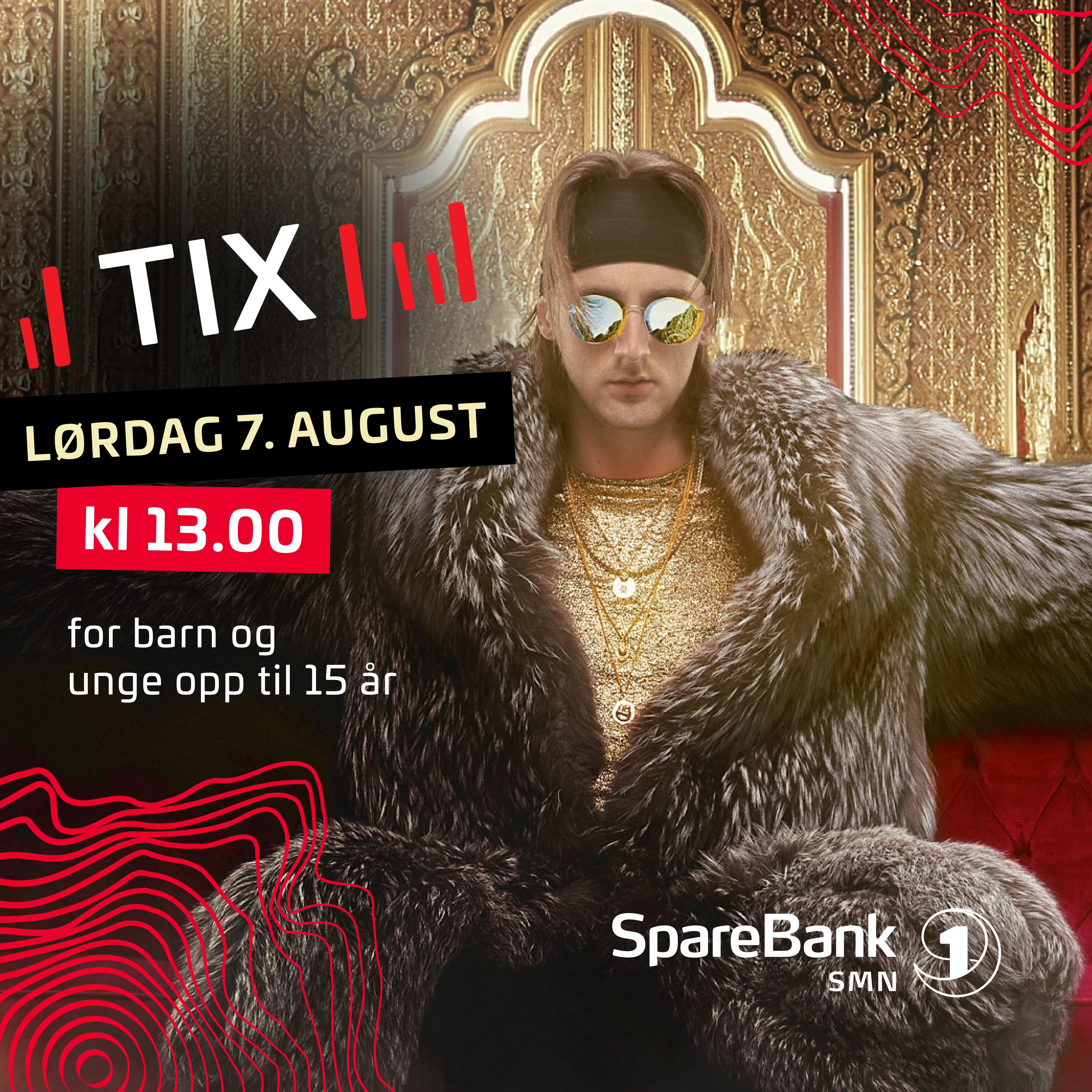 TIX! Barne-/ungdomskonsert Lørdag 07.08.2021